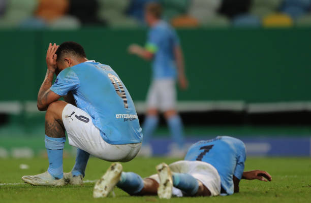 Man City went out of the Champions League last season after losing to Lyon