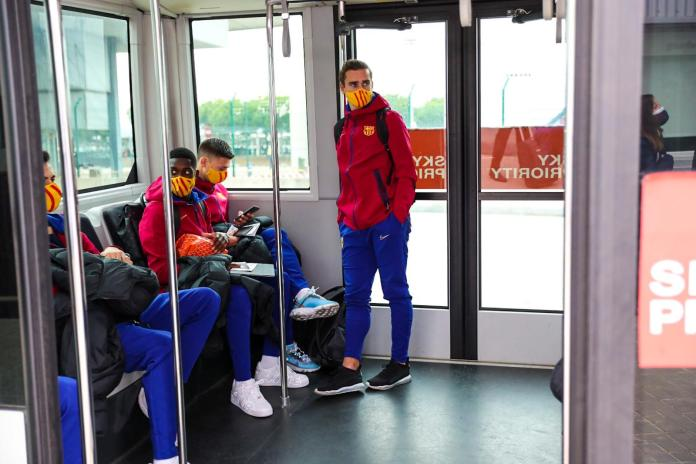 Barcelona squad - offf to Budapest