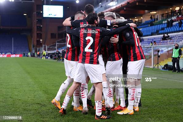 GENOA, ITALY - DECEMBER 06: (BILD ZEITUNG OUT) Samu Castillejo of AC Milan celebrates after scoring his team's second goal during the Serie A match between UC Sampdoria and AC Milan at Stadio Luigi Ferraris on December 6, 2020 in Genoa, Italy. (Photo by Sportinfoto/DeFodi Images via Getty Images)