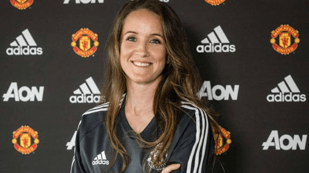 Image of Manchester United's manager, Casey Stoney