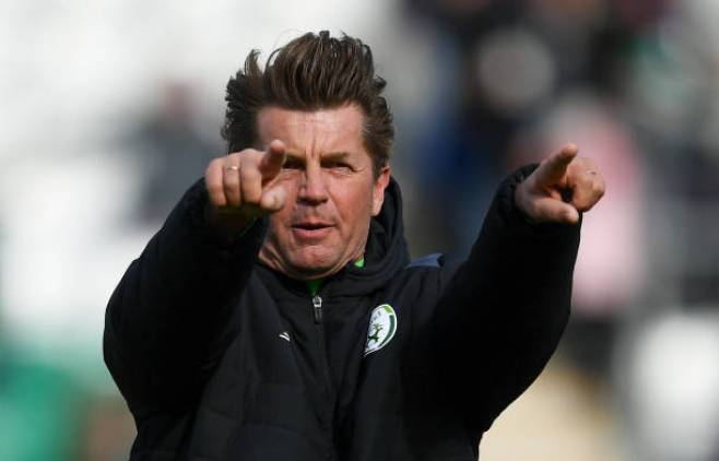 Dublin , Ireland - 6 April 2018; Republic of Ireland head coach Colin Bell during the 2019 FIFA Women's World Cup Qualifier match between Republic of Ireland and Slovakia at Tallaght Stadium in Tallaght, Dublin. (Photo By Stephen McCarthy/Sportsfile via Getty Images)