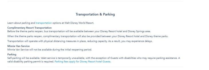 Walt Disney World Resort transportation policy