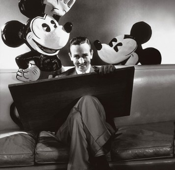 Walt with Mickey.
