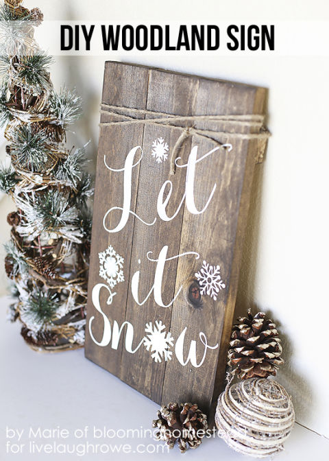 Place this rustic sign next to your Christmas tree or by the fire to stay cozy amidst a hopeful flurry. Get the tutorial at Live Laugh Rowe.