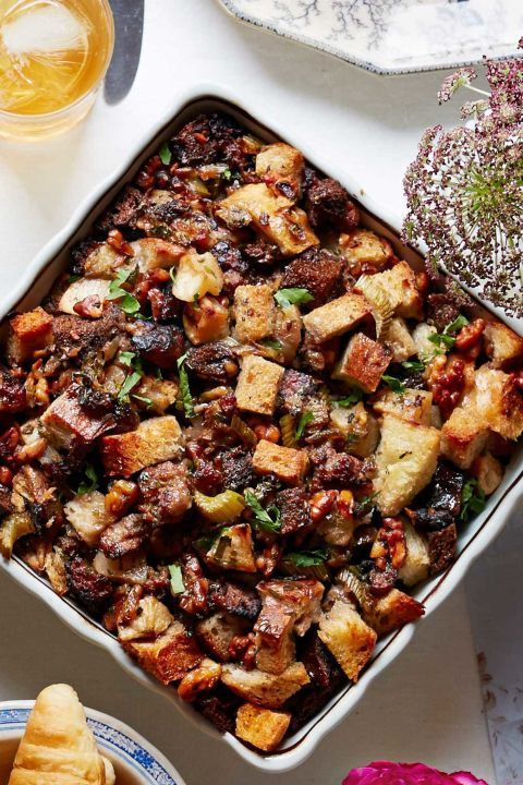 Toss dried fruits such as apricots, figs, or raisins in with the apples for an added touch of sweetness. Assemble this casserole up to a day ahead, and simply cover and chill.  Get the recipe.