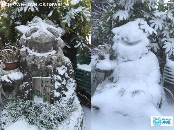 雪シーサー2
