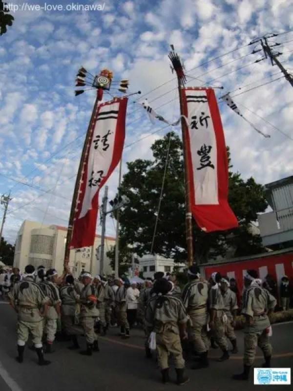 石垣島豊年祭旗頭