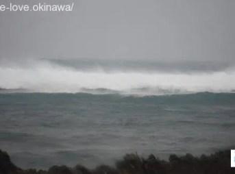 台風の高波