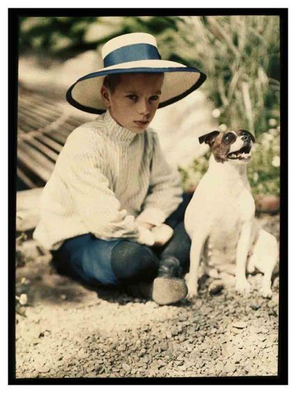piotr vedenisov. kolya kozakov and the dog gipsy. yalta. 1910-1911 © moscow house of photography museum.jpg