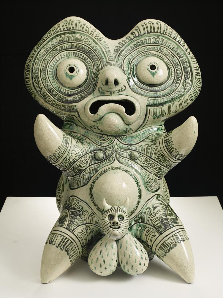 grayson_perry,tomb_guardian,_2011,_77x60x60cm,_glazed_ceramic