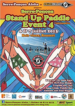 stand up paddle serre-ponçon