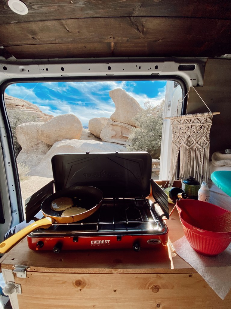 Vanlife cooking