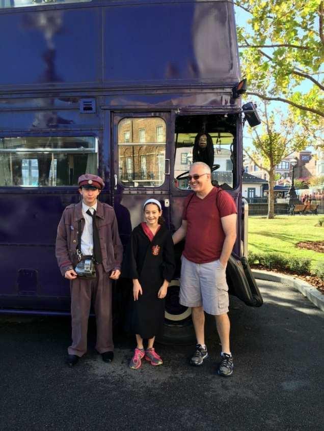 Harry Potter's Knight Bus at Universal Studios