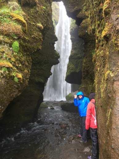 The secret waterfall Gljúfurárfoss near Sejlandfoss
