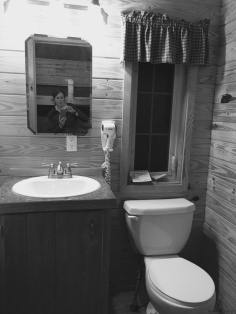 KOA Deluxe cabin bathroom