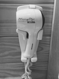 It was surprising to find a hair dryer at the KOA Deluxe cabin