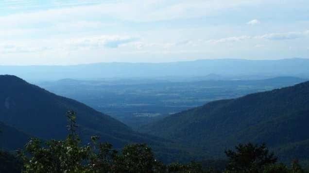 Blue Ridge Mountains in Shenandoah National Park