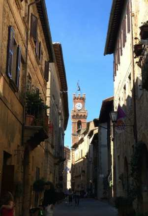 Pienza clock tower