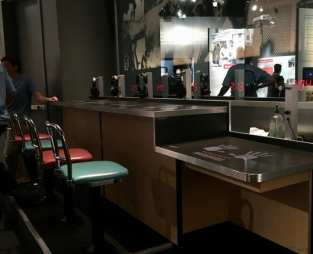 Center for Civil and Human Rights lunch counter exhibit