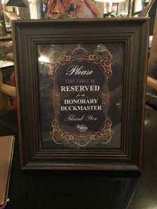 Reserved for Honorary duck master