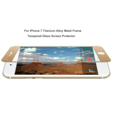 iphone 7 titanium alloy tempered glass screen protector