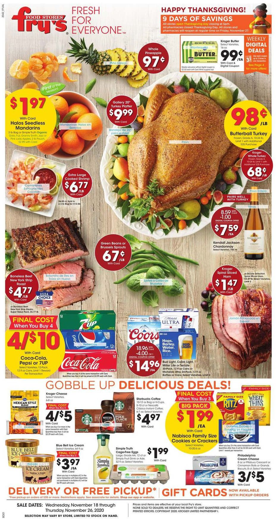 Fry S Weekly Ad Nov 27 Dec 1 2020 Weekly Specials Coupons Weeklyads2