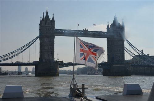 view of tower bridge from the thames clipper