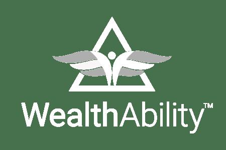 Black and White WealthAbility logo