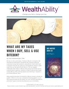 Cryptocurrency Tax Guide