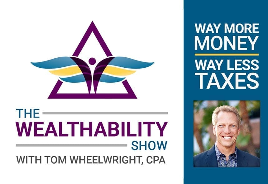 Way more money way less taxes with wealth ability show logo