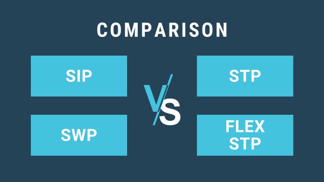 Difference between SIP, STP, SWP, and Flex STP