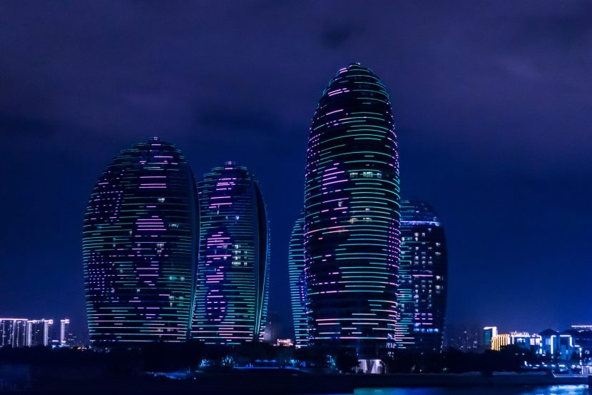 A futuristic city illustrating how ai will affect the future