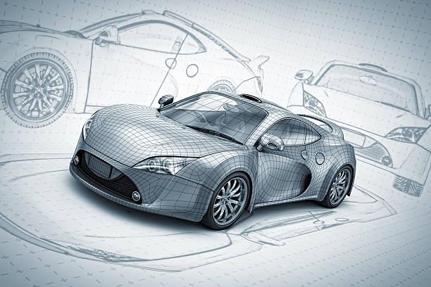An Illustration of a concept of a super car
