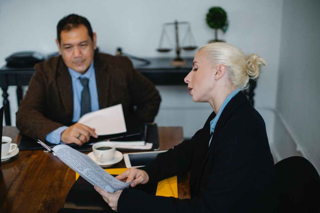 businesswoman with ethnic colleague in office