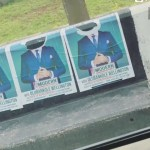 Banky W's campaign posters destroyed in Lagos; Adesua Etomi reacts