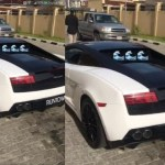 Fans damage Runtown's Lamborghini at Burna Boy's concert( see video)