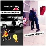 Footballer, Yakubu Aiyegbeni gifts his wife, Yvonne, a Range Rover for Christmas(photos)
