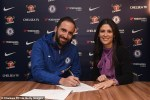 Higuain joins Chelsea on loan from Juventus until end of season (Photos)