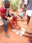 Man Brutalize His Uncle with a Cutlass In Kogi State ( Photo)