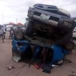 Woman and her 2 kids survive Fatal Accident in Sapele, Delta State (See Photo & Video)