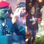 Wizkid Storms Patoranking's  Album listening Party together with Tiwa Savage (Video)