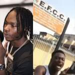 Nigerians Youth Storm EFCC office in Lagos to demand Release of Naira Marley ( Watch Video)