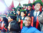 Veteran Nollywood Actor, Emeka Ike Celebrates his son as he Graduates from College  (Photos)