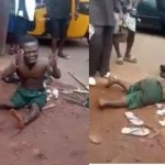 Dwarf beaten Mercilessly By Angry Mob Over Missing Penis in Enugu State (video)