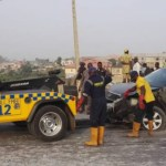 Fatal Accident !!! Two Persons Dead & One Critically injured In Otedola Bridge Accident (Photos)