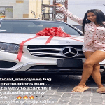 2019 BBNaija Winner, Mercy Eke gets a new Mercedes Benz gift (Video)