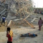 8-Storey building Under Construction Collapses in Imo State (photos)