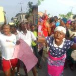 COVID19 Lockdown: Sapele Women Stage Protest Over 2 weeks lockdown Extension in Delta State (photos/video)