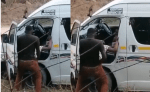 South African Taxi driver Nabbed while having s3x with Lady, by the Road Side  (video)
