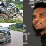 Samuel Eto'o hospitalized with Minor head injury After being involved in Car Accident in Cameroon (Photos)